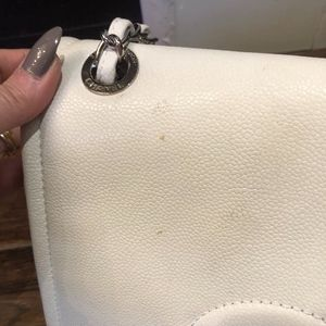 CHANEL Bags - CHANEL Timeless Cc White Lambskin Leather